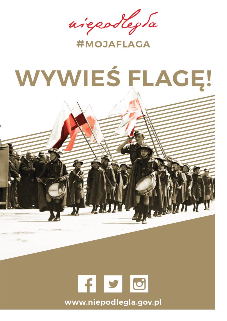 Wywies flagę